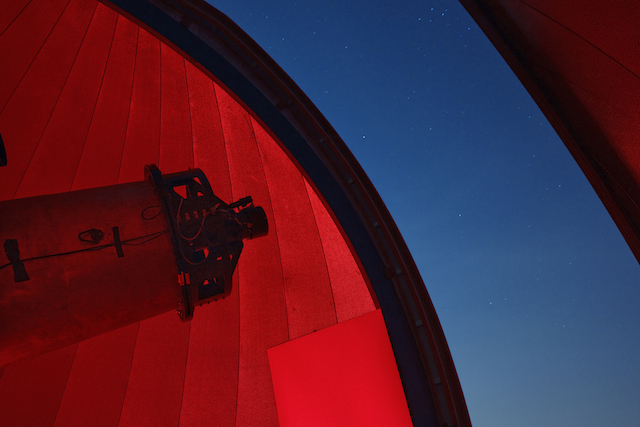 Bay 4 scope at Wallace Astrophysical Observatory